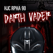 New and in stock now HJC's RPHA 90 Darth Vader!