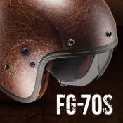 New from HJC: FG-70s VINTAGE open face helmet