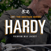 In stock now: Hardy premium wax jacket