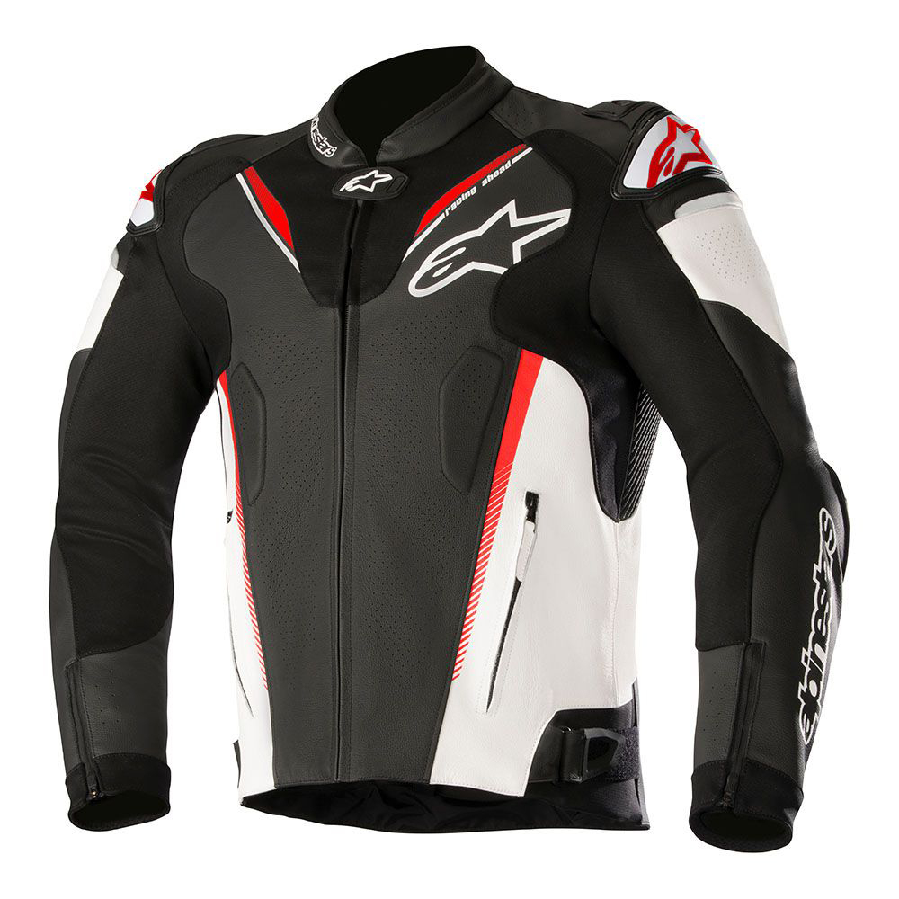 Alpinestars Motorcycle Jacket >> Alpinestars Atem v3 Leather Jacket Black White & Red ...