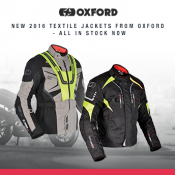 New from Oxford: Textile Jackets in stock now!