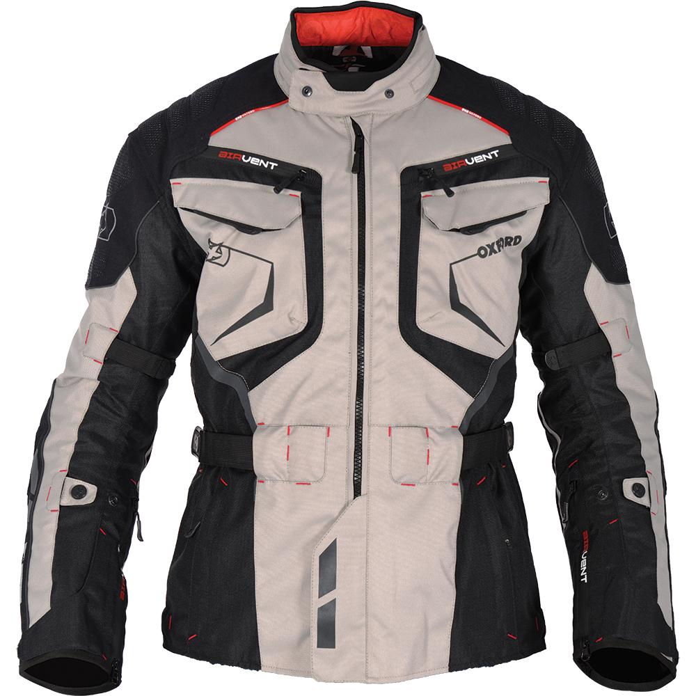 Leather jacket vs motorcycle jacket - Oxford Ankara Long Jacket Grey Black