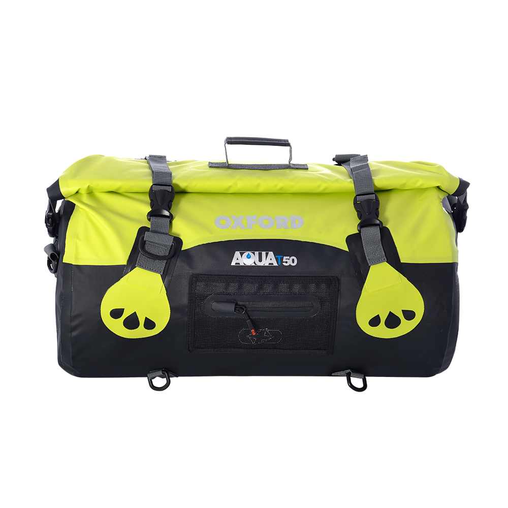 AQUA T-50 ROLL BAG - BLACK/FLUO