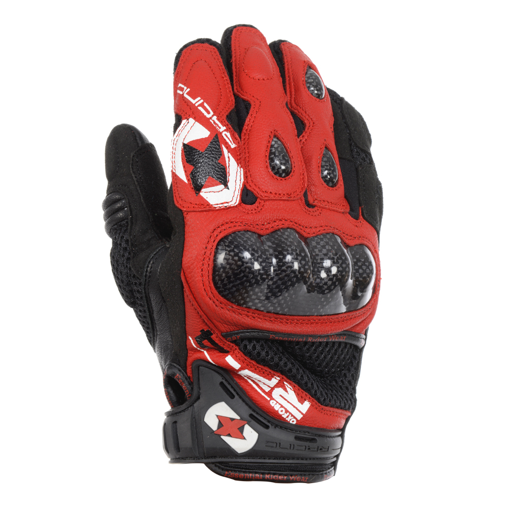 Motorcycle gloves bangalore - Oxford Rp 4 Summer Short Glove Red Black