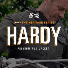 In stock now: Hardy premium wax jacket