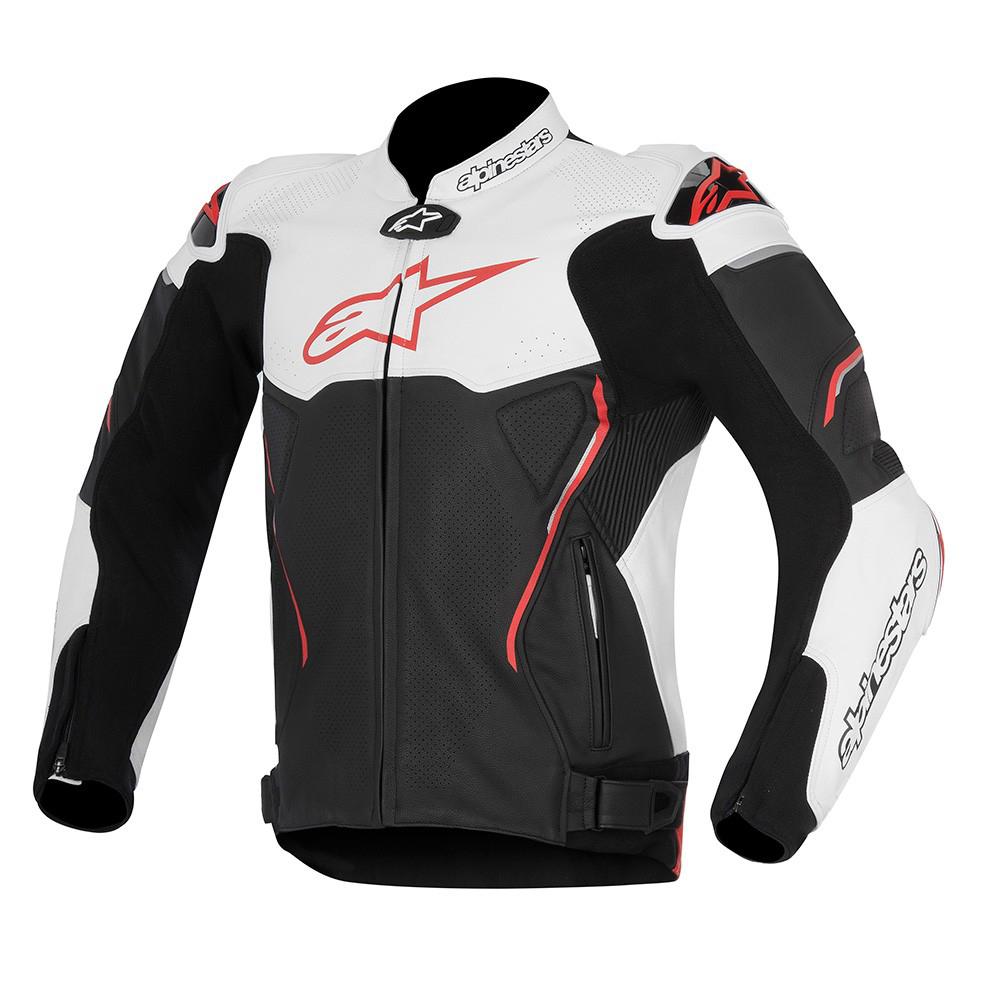 Alpinestars Atem Leather Jacket Black White Red