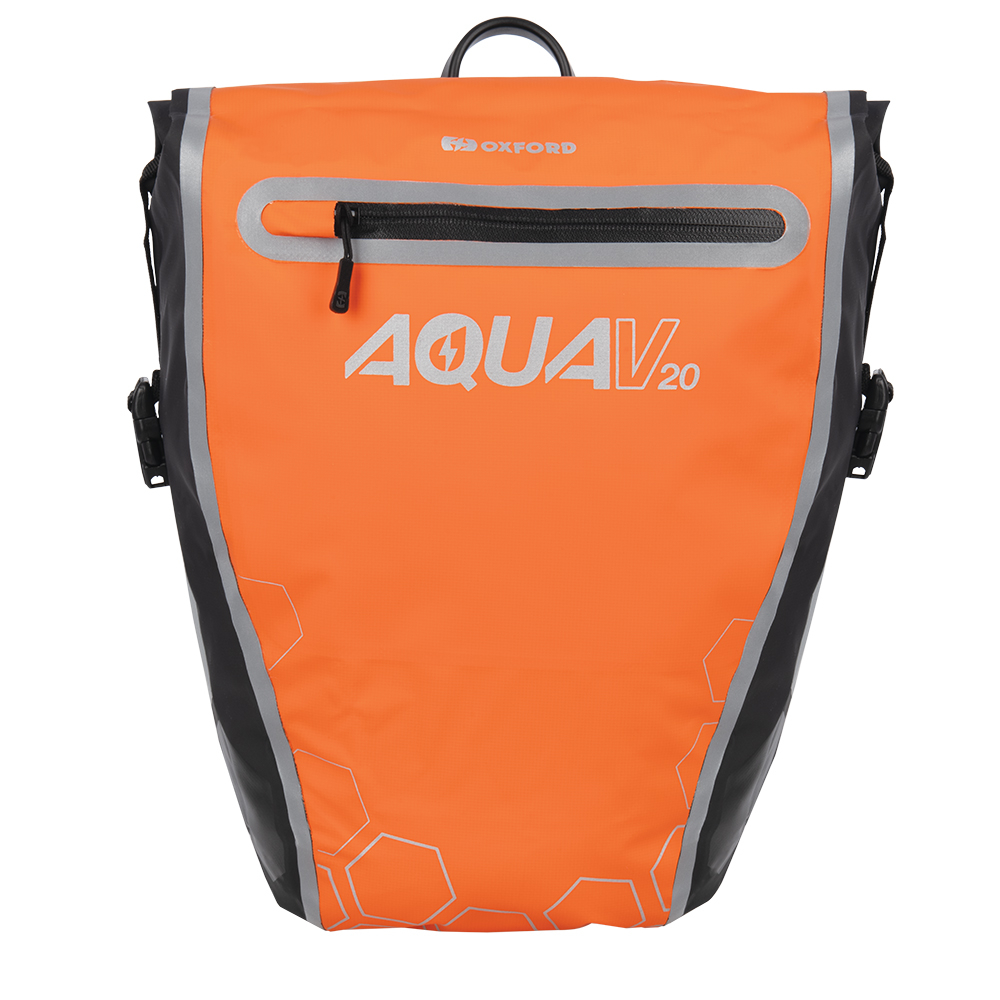 Oxford Aqua V 20 Single QR Pannier Bag Orange/Black