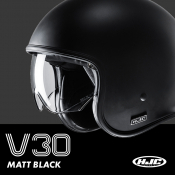 HJC V30 Matt Black - In Stock Now!