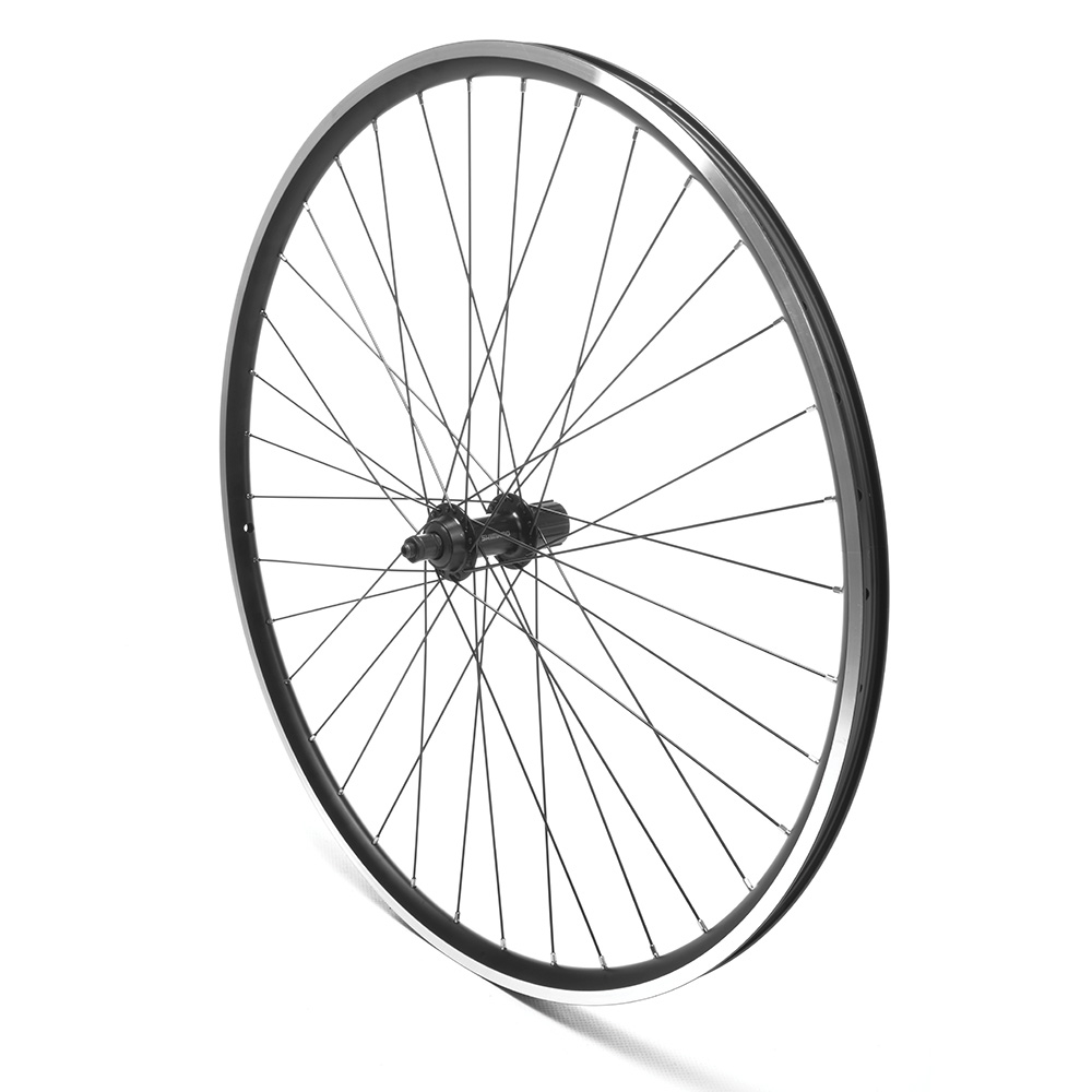 Rear Wheel 700c Hybrid Cassette Black D/Wall QR V-Brake