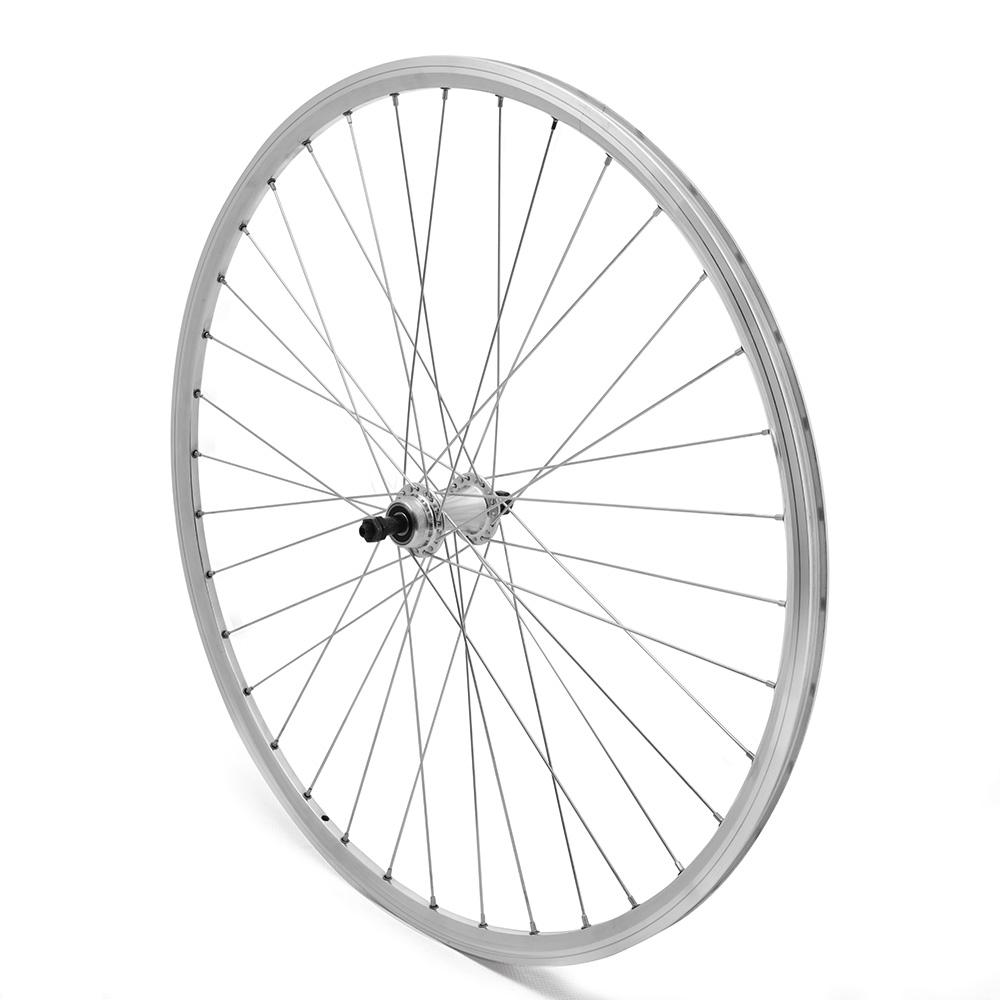 Rear Wheel 700c Road Freewheel Silver D/Wall QR