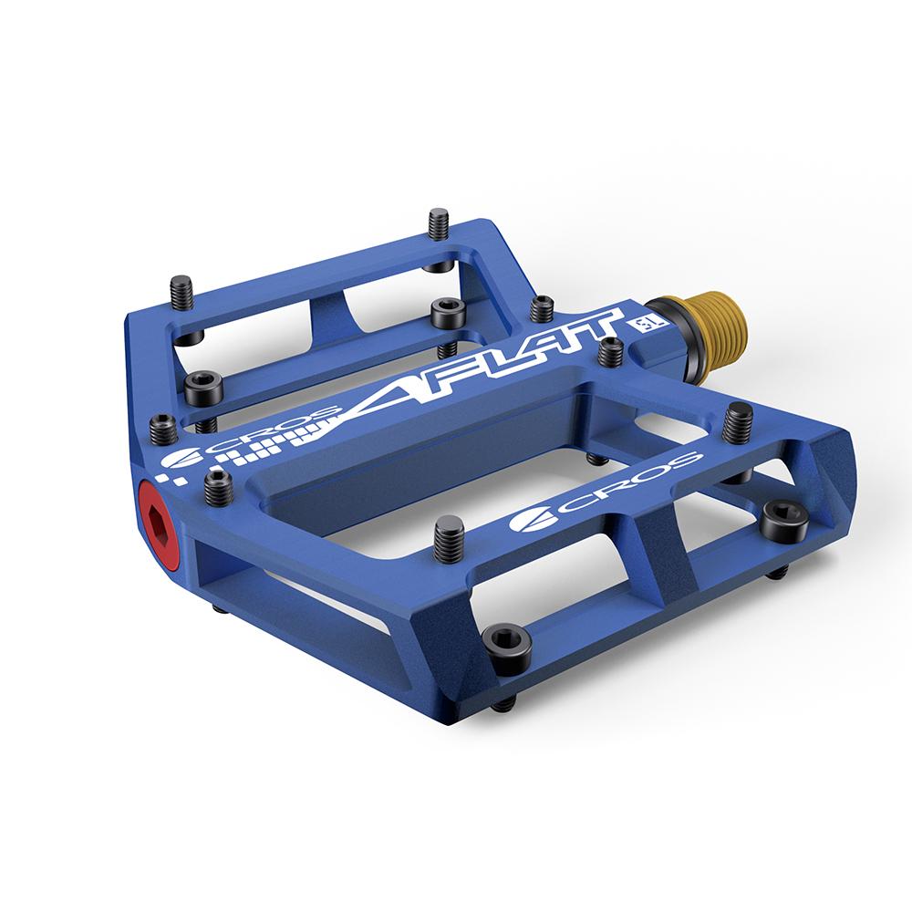 Acros A-Flat SL Titanium Pedals - Blue
