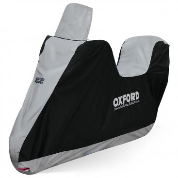 PIAGGIO MP3 LT 500 Oxford Motorcycle Cover Breathable Motorbike Black Grey
