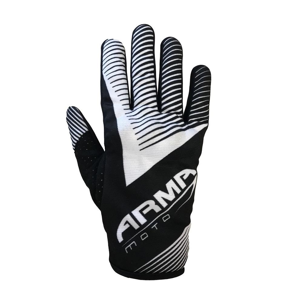 ARMR KMX8 Kids Motocross Glove - Black & White