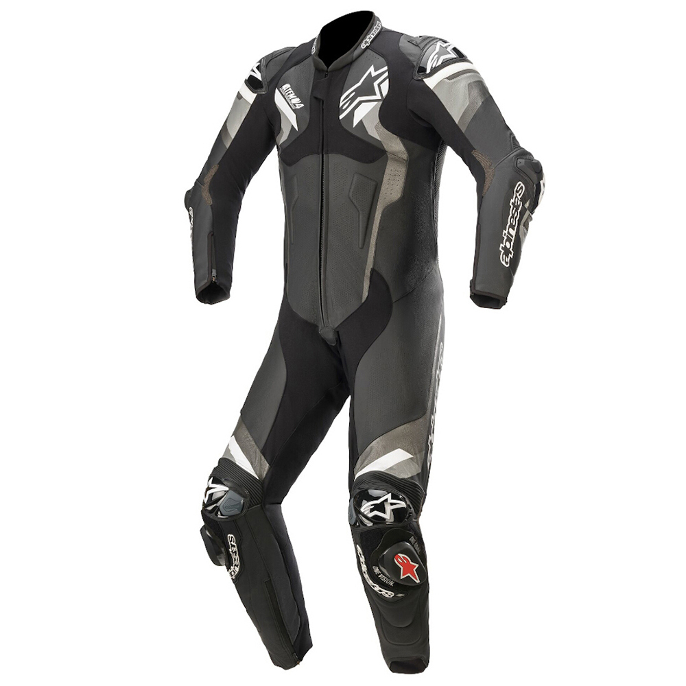 Alpinestars Atem v4 Leather 1 Pc Blk/Gry/Wh