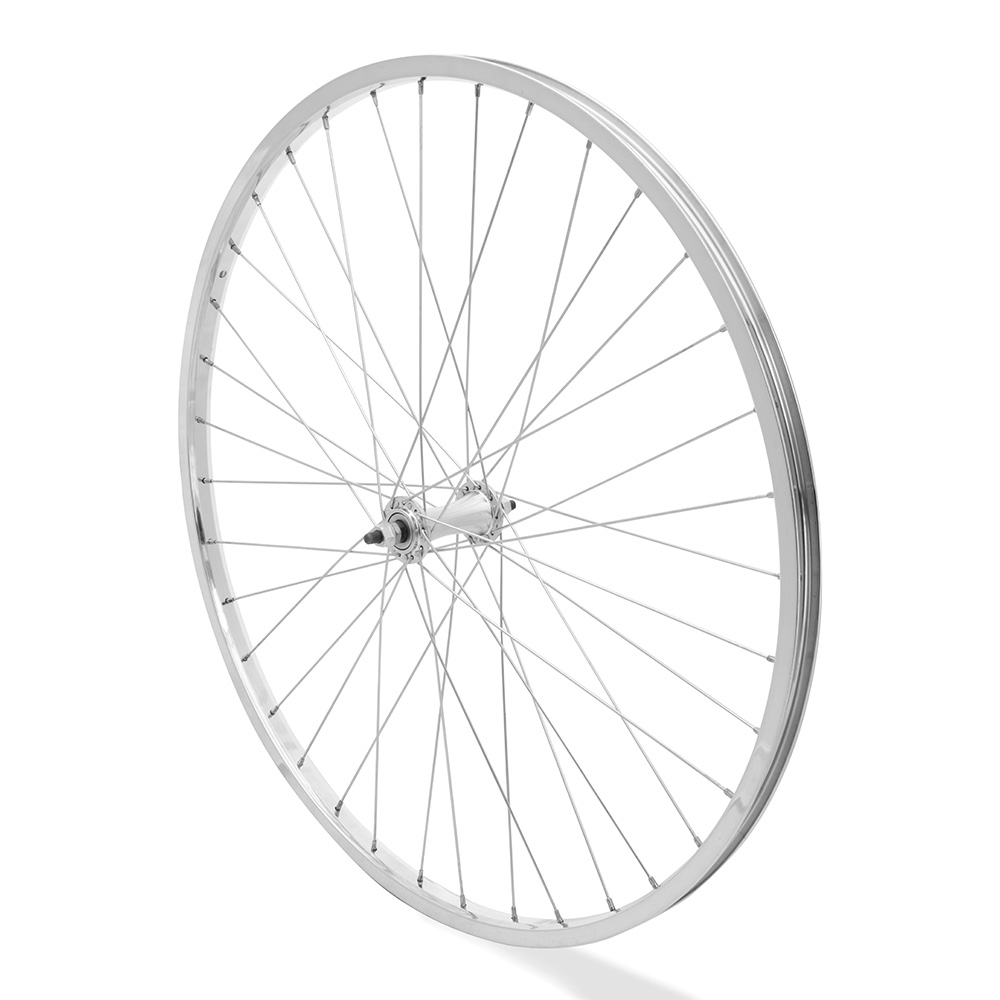 Front Wheel 26 x 1 3/8 Silver Single Wall Nutted