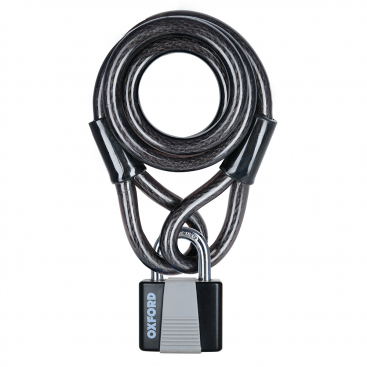 2dbd4898914 Oxford Loop Lock10 Cable Lock+Padlock 10mmx1800mm
