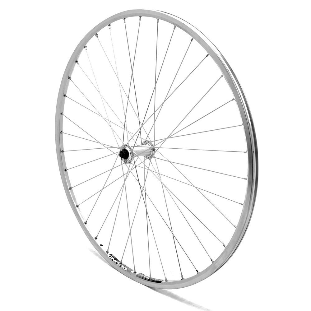 Front Wheel 700c Road Silver Double Wall QR