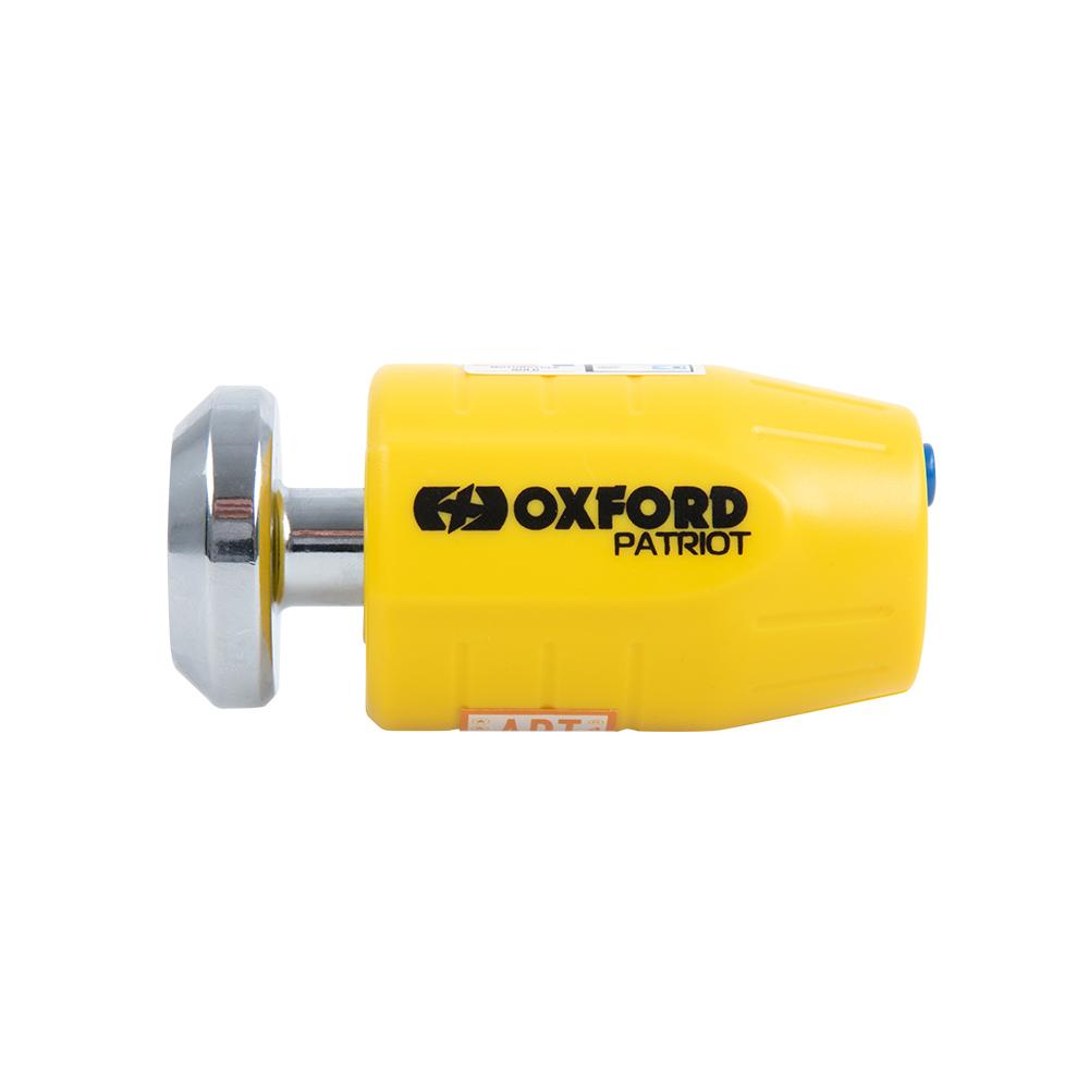 Oxford Patriot 14mm Pin Disc Lock Yellow