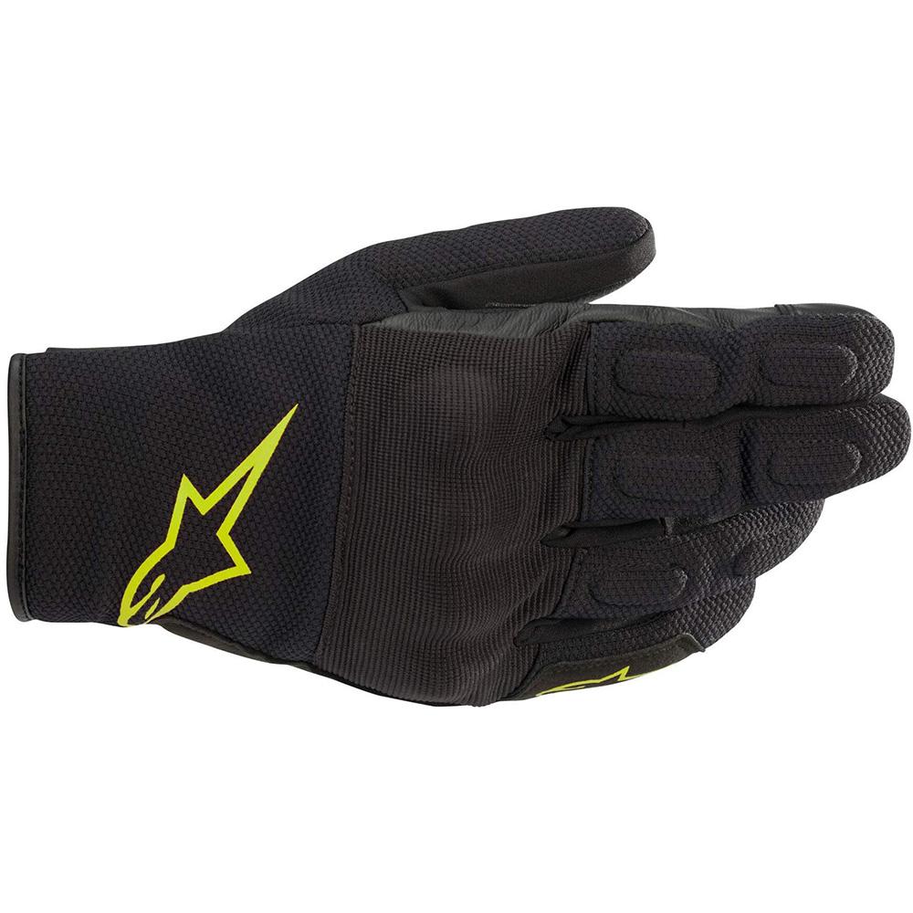 Alpinestars S Max Drystar Gloves Black & Yellow Fluo
