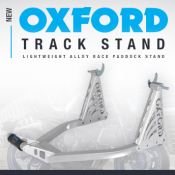 New from Oxford: Rear alloy track stand in stock now!