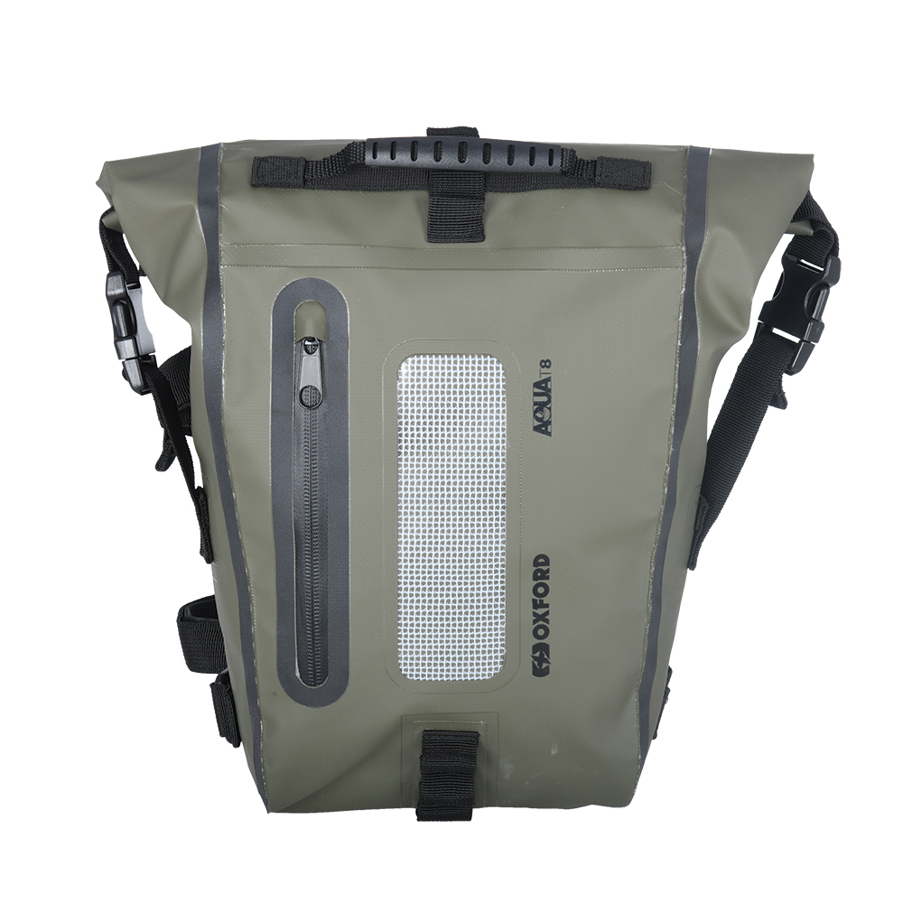 Oxford AQUA T8 TAIL BAG - KHAKI/BLACK