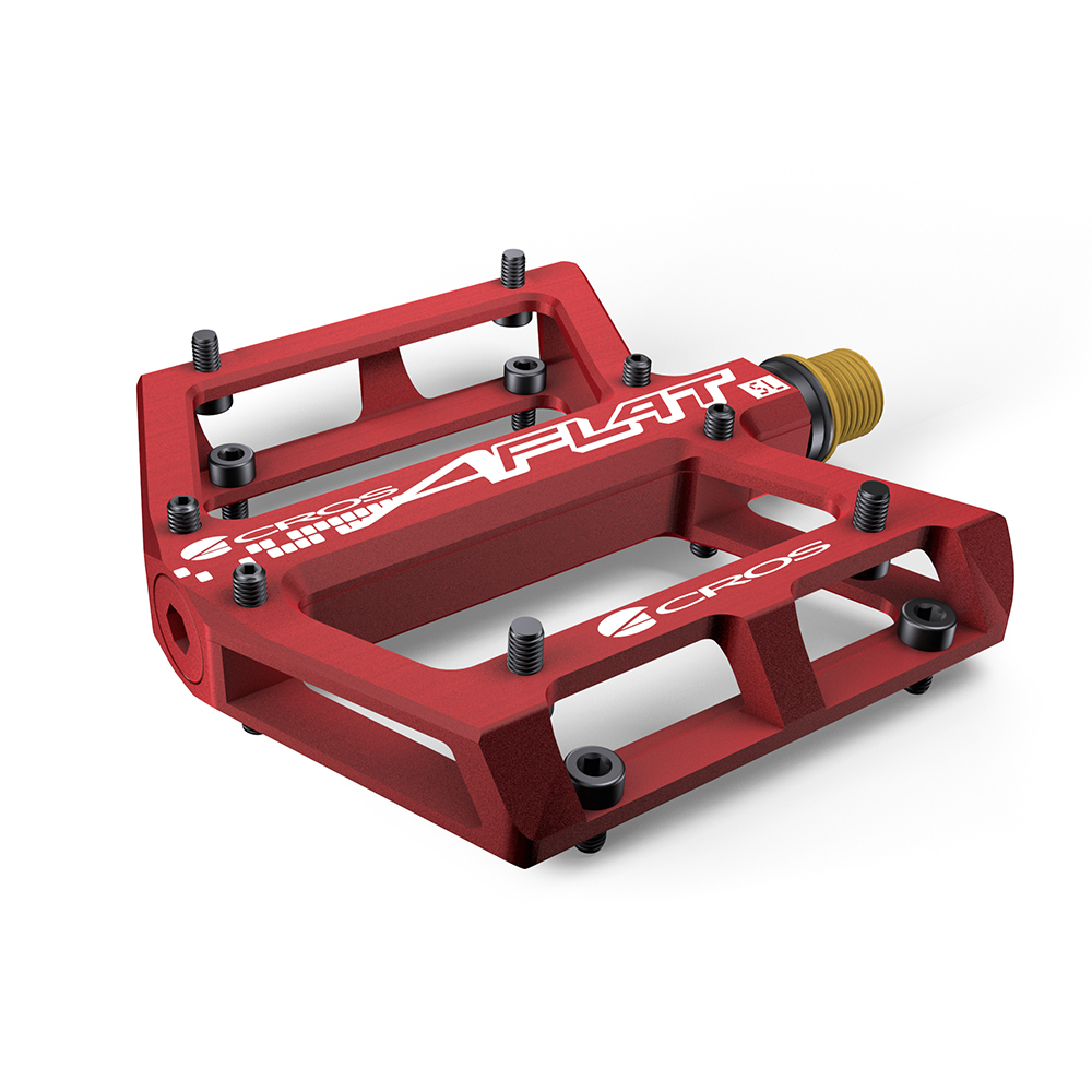 Acros A-Flat SL Titanium Pedals - Red