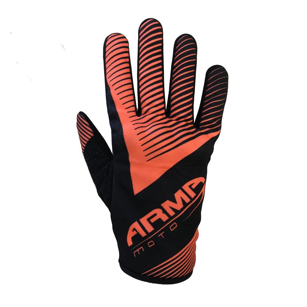 ARMR MX8 Motocross Glove - Black & Orange