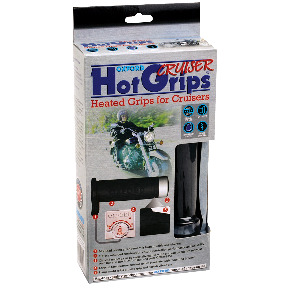 Oxford Hotgrips Essential CRUISER with Chrome switch
