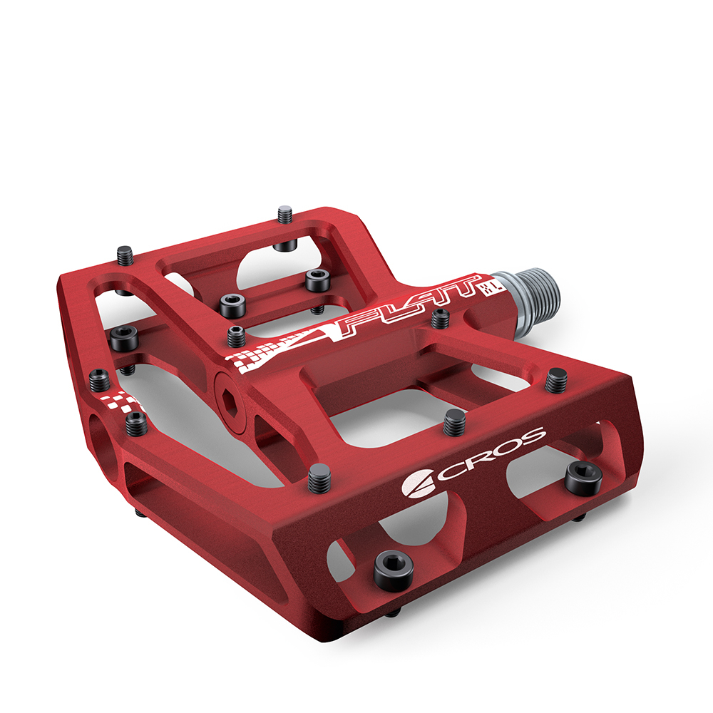 Acros A-Flat XL Pedals - Red