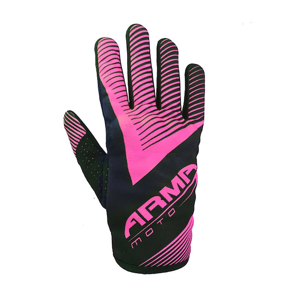 ARMR KMX8 Kids Motocross Glove - Black & Pink
