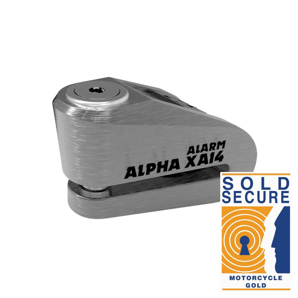 Oxford Alpha XA14 Alarm Disc Lock(14mm pin) Stainless
