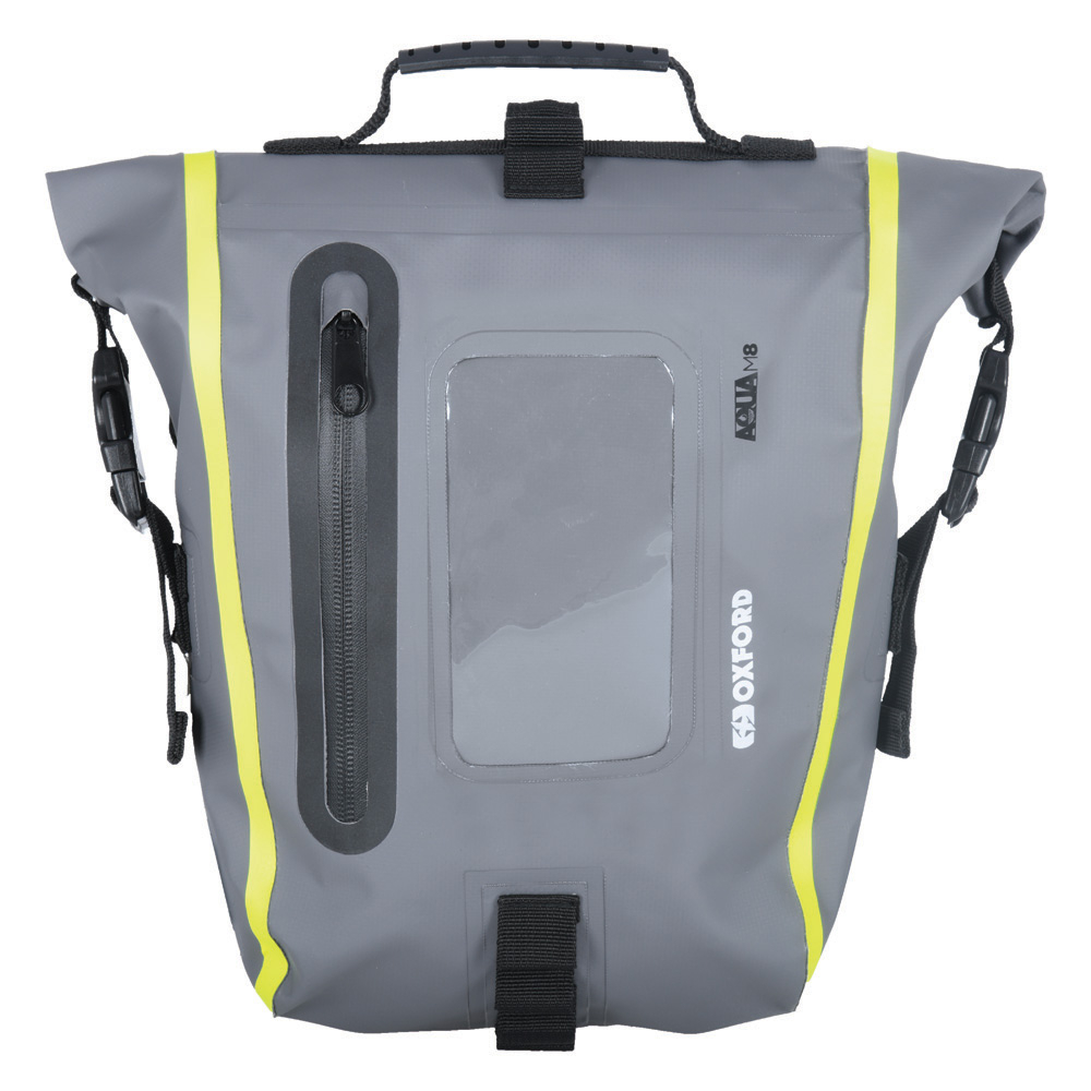 Oxford Aqua M8 Tank Bag Black/ Grey/ Fluo