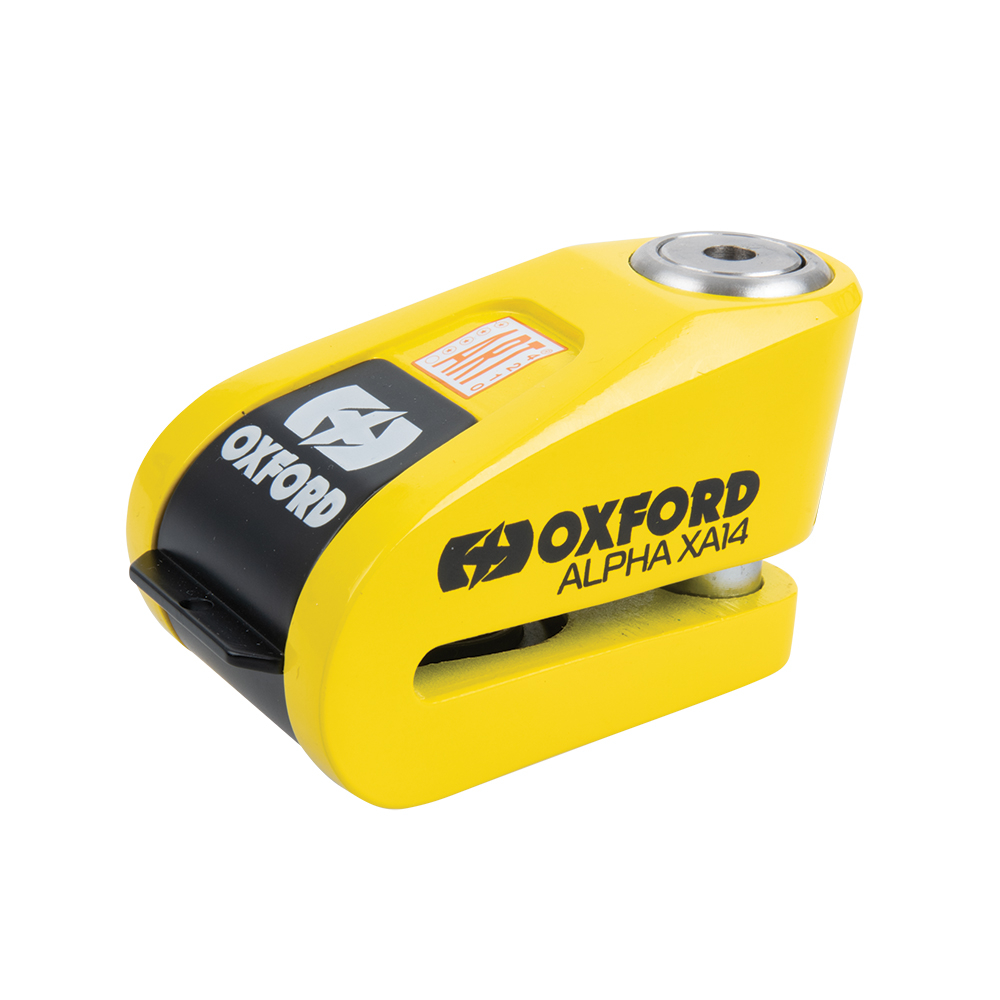 Oxford Alpha XA14 Alarm Disc Lock Yellow/Black