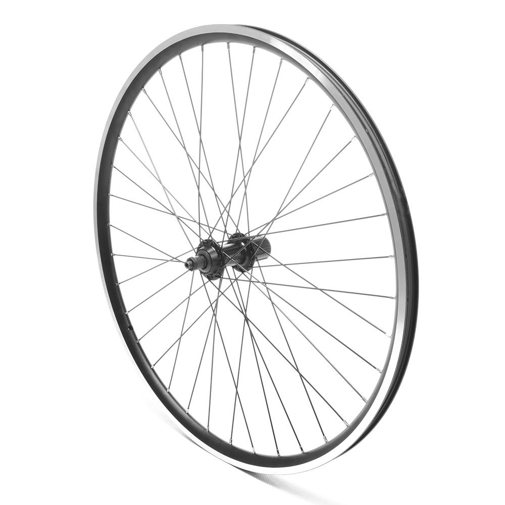 Rear Wheel 26'' MTB Freewheel Black D/Wall QR Disc Ready
