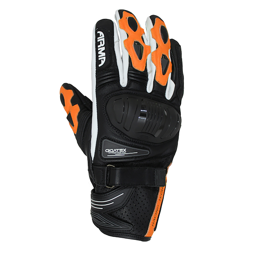ARMR Shiro (S880) Glove - Black & Orange & White