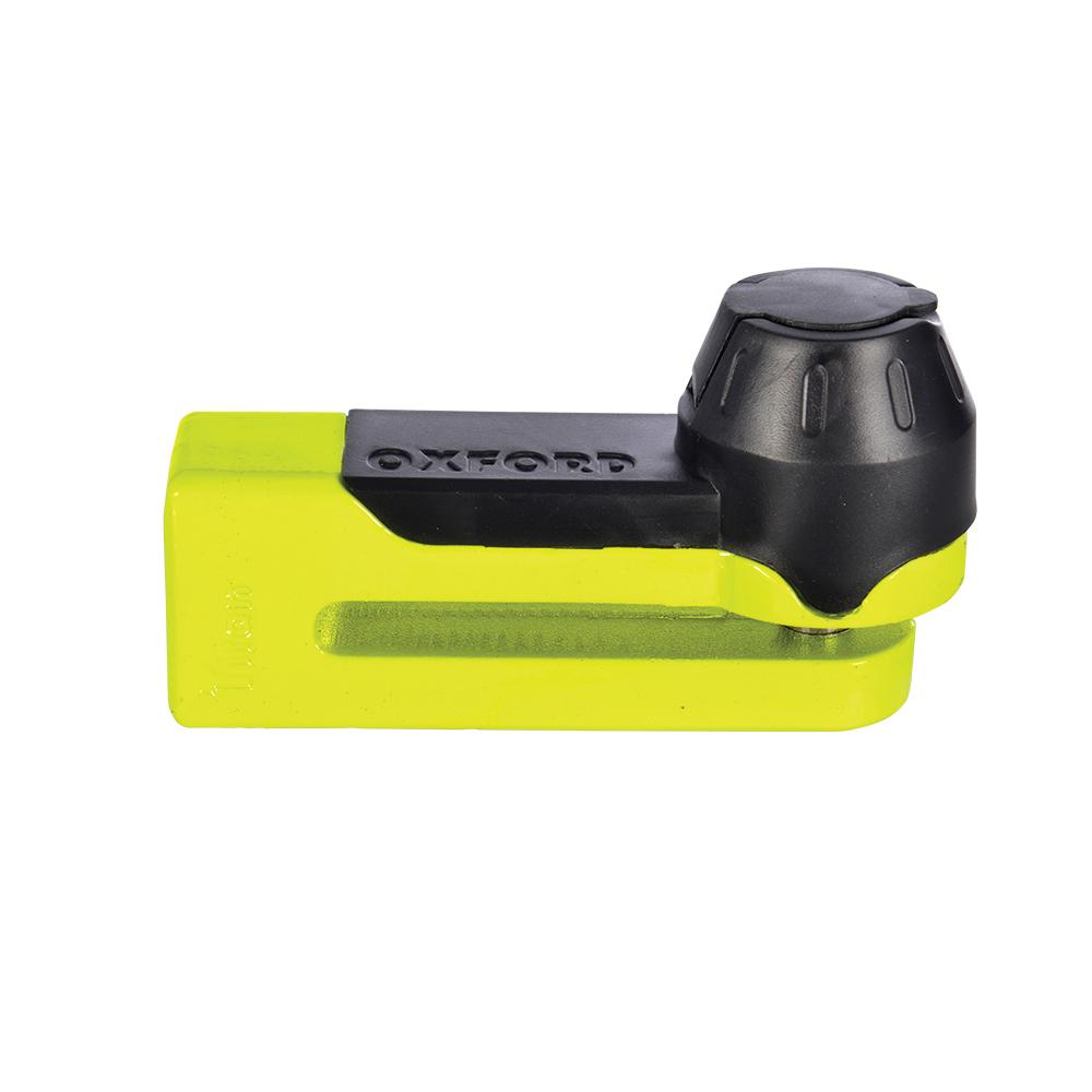 Bike Motorcycle Oxford Titan Brake Disc Lock And 10mm Locking Pin In Yellow