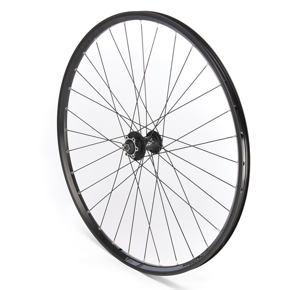 Front Wheel 27.5'' MTB Black Double Wall Disc Only
