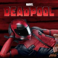Menacing Deadpool helmet breaks cover