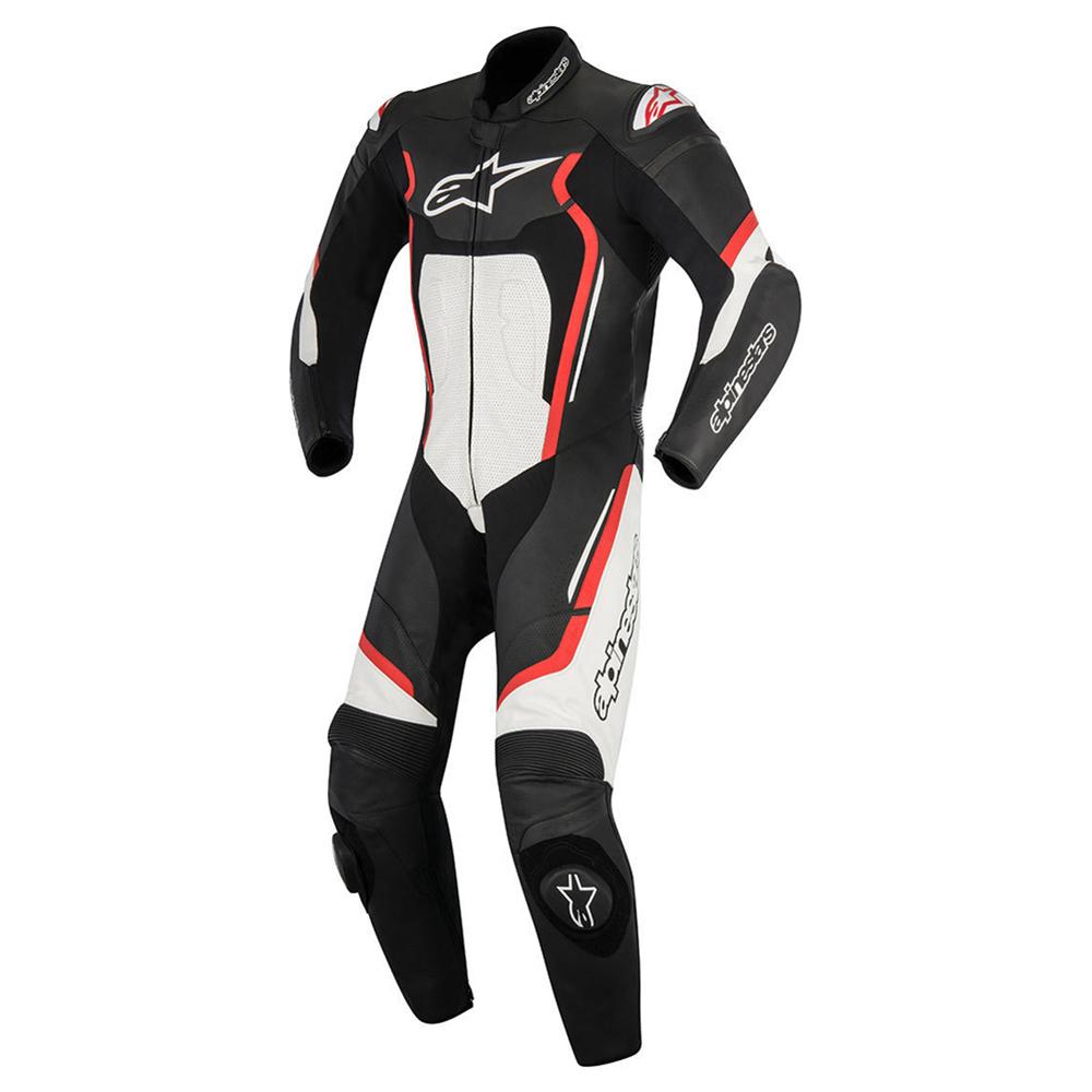 Alpinestars Motegi v2 1 Piece Suit Black Red & White