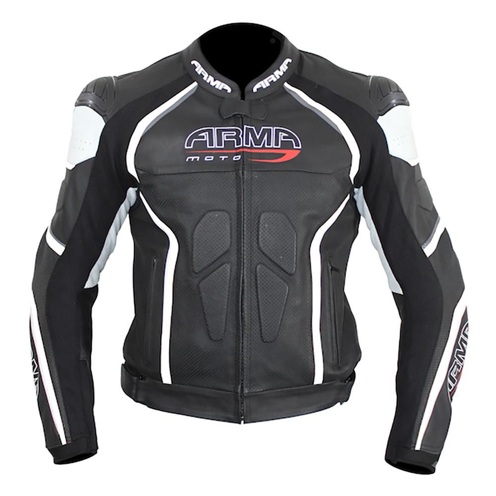 ARMR Harada R Leather Jacket - Black & White