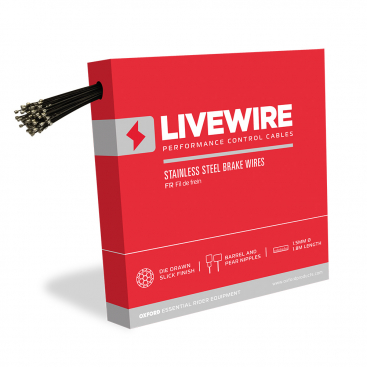 Oxford LiveWire Bicycle Cycle Bike Performance Stainless Steel Brake Cable CC404