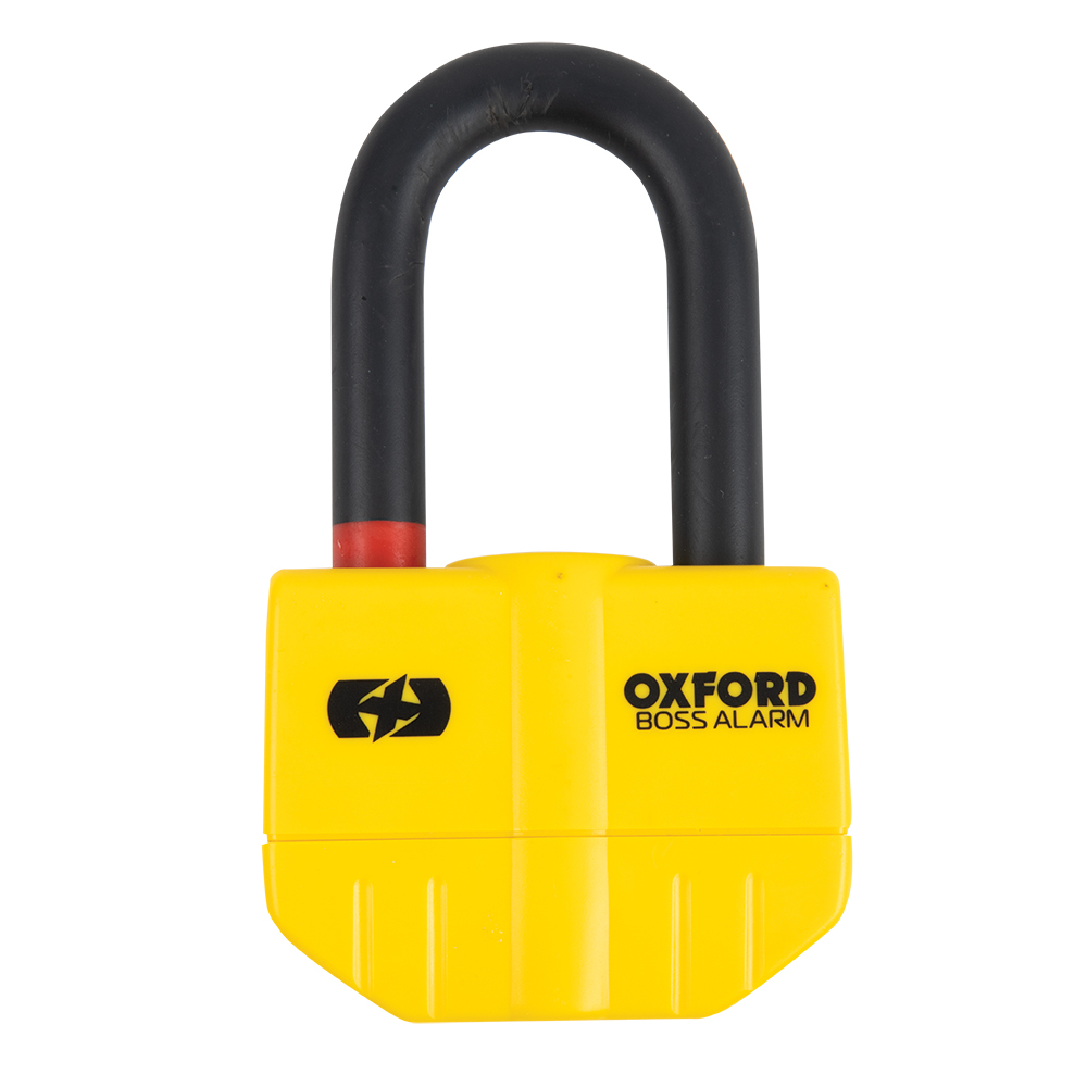 Oxford Boss Alarm 14mm Disc Lock Yellow