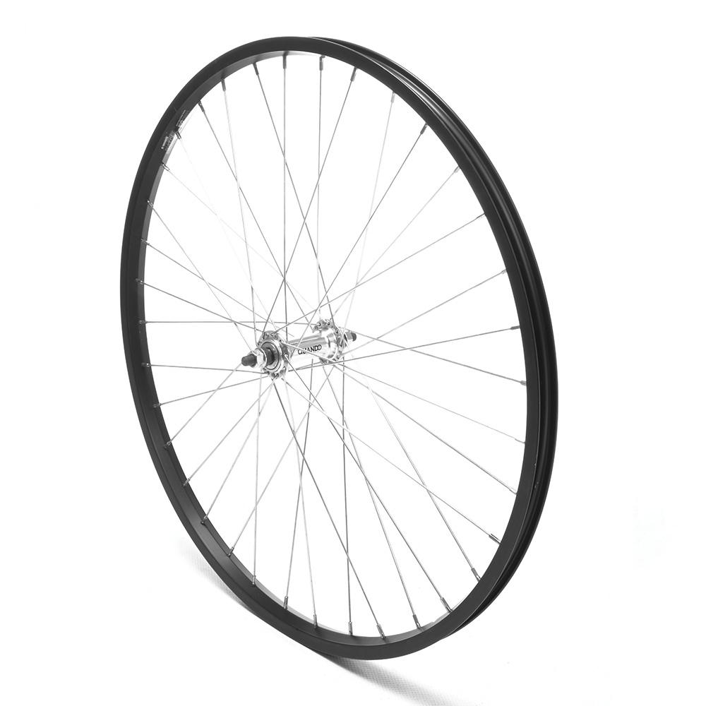 Front Wheel 26'' MTB Black Single Wall Nutted V-Brake
