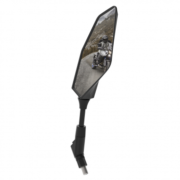 OX572 Oxford Motorcycle Rearview Mirror Black Oval Left
