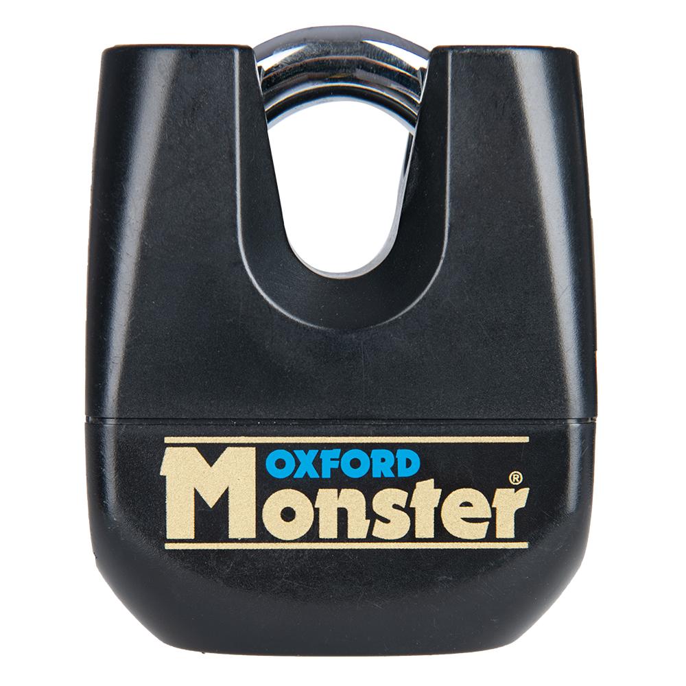 Oxford Monster 11mm Padlock Black - unpackaged BOM