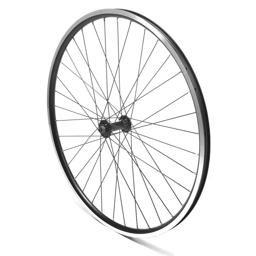 Front Wheel 700c Hybrid Black Double Wall QR