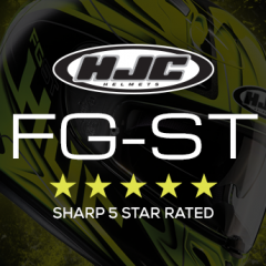 HJC FG-ST wins 5 star approval from SHARP