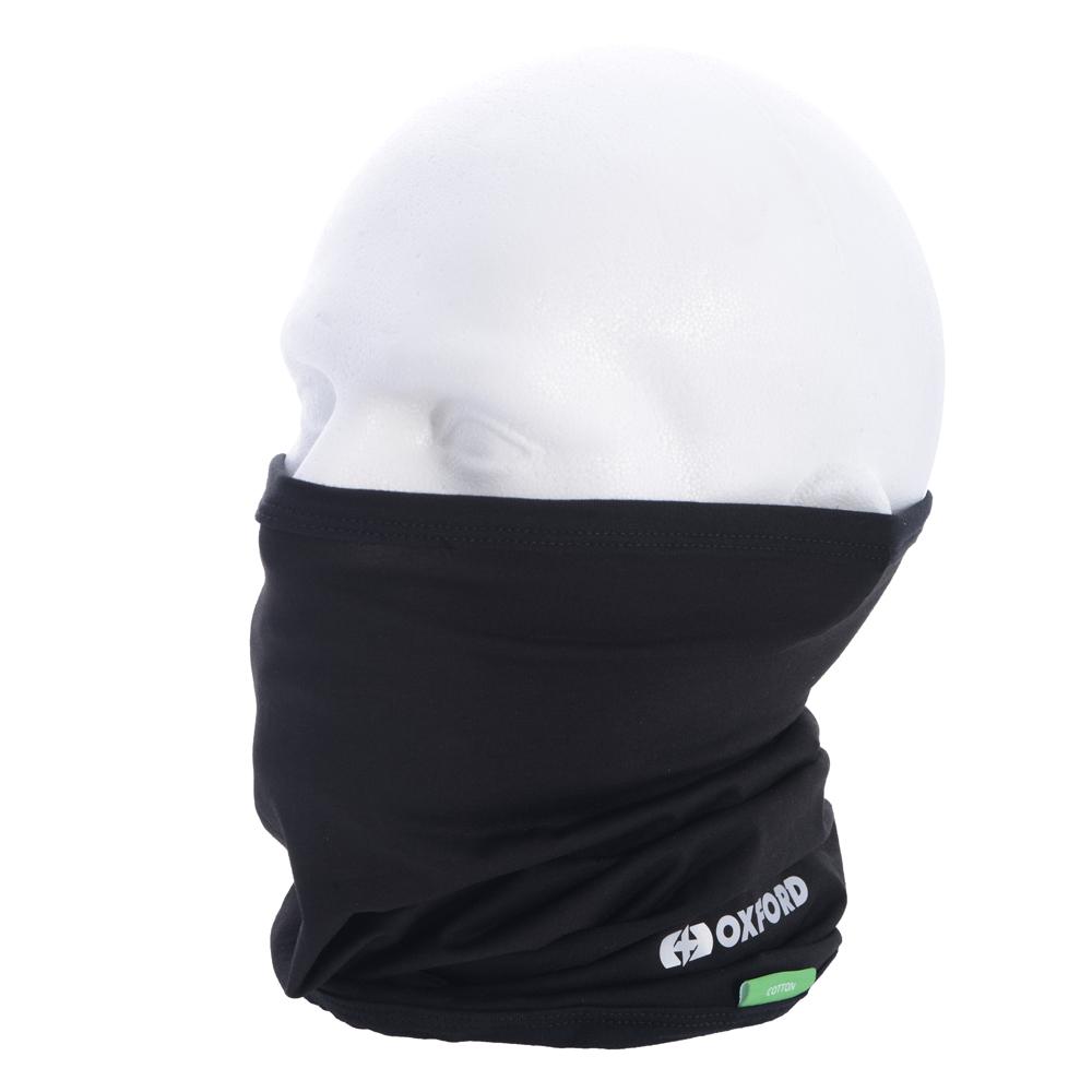 Oxford Neck Tube Cotton - Black