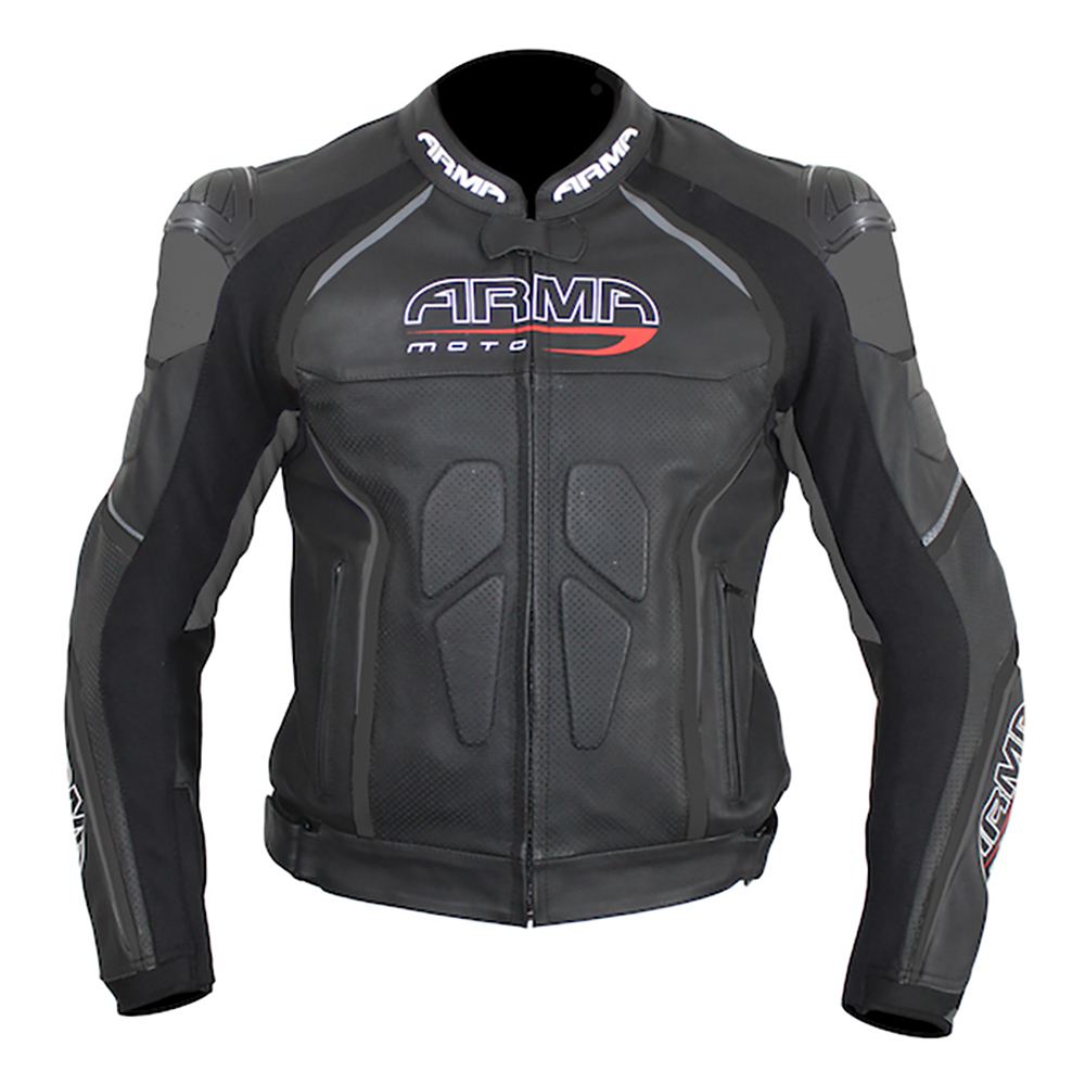 ARMR Harada R Leather Jacket - Black