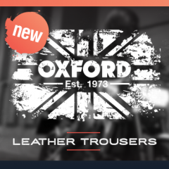New from Oxford: Leather trousers complete the set